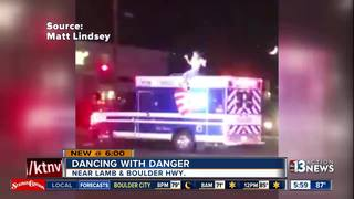 CAUGHT ON CAMERA: Man dances on top of ambulance
