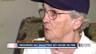 Neighbors say squatters to blame for house fire
