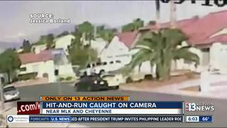 Hit-and-run caught on camera in NLV neighborhood