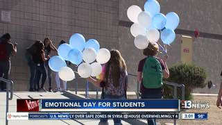 Students wear blue to support crash victims