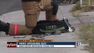 Man catches fire, neighbors rush him to safety