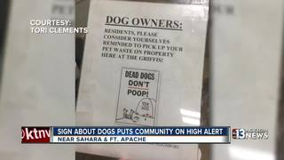 Dog poop sign causes controversy