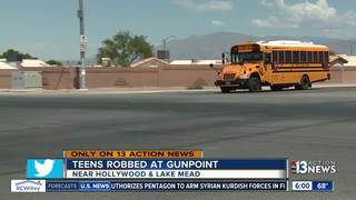 Middle school students robbed at gunpoint