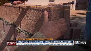 Homeowners forced to pay for defective wall