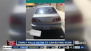 Family falls victim to car-buying scam