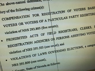 Felony charges in Nevada voter fraud case