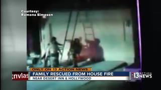 Family rescued from house fire