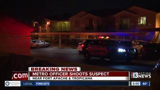 Suspect shot by officer in stable condition