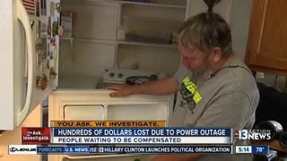 People want to be reimbursed after power outage