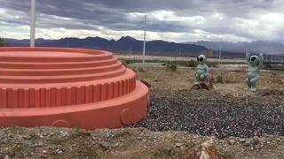 Aliens, UFO greet visitors at shooting complex