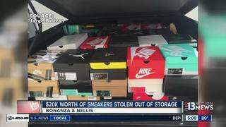 Hundreds of shoes stolen out of storage unit