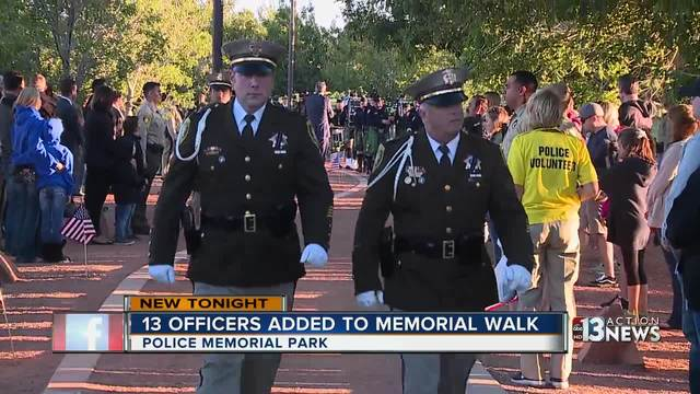 Three names added to Law Enforcement Memorial