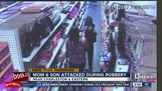 Store owner and son attacked during robbery