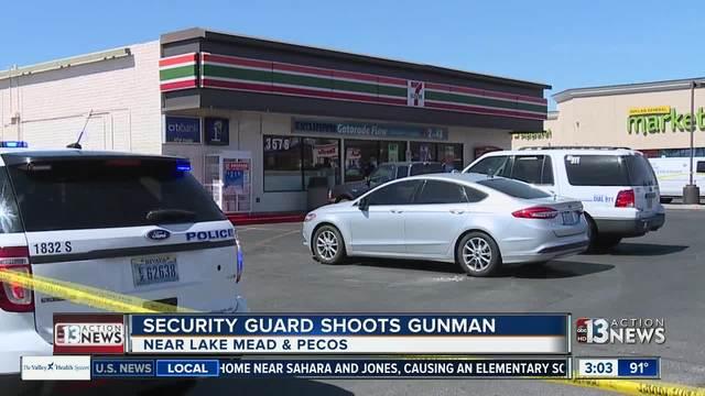 Security guard shoots gunman at 7-Eleven