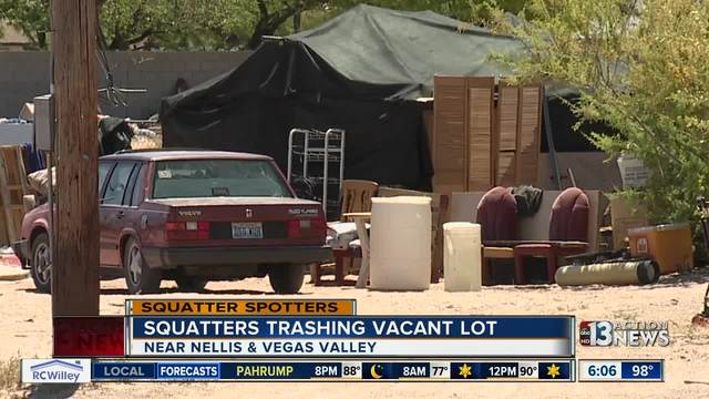 Neighbors annoyed by squatters on vacant lot