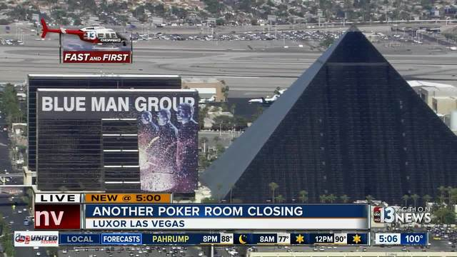 Poker Room At Luxor Latest One To Close In Las Vegas