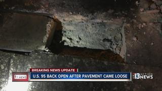 US 95 closed at Spaghetti Bowl after road damage