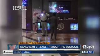 Naked man chased by police near Westgate