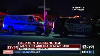 Man shot, killed near Las Vegas park