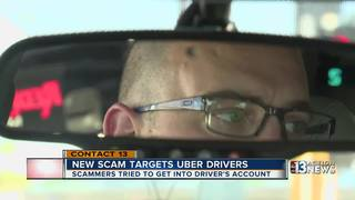 Uber driver warns of phishing scam