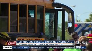 Students talk about school bus crash