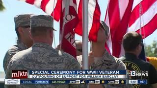 Flag-raising ceremony held for WW2 veteran