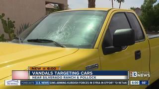 Vandals smash in multiple car windows
