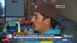 Citizenship applications on the rise