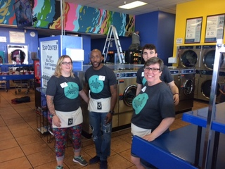 Laundromat gets a street art makeover