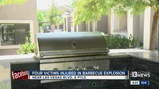 Grill explodes, injures 4 in apartment complex