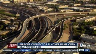 Flyover ramp opens at 215 and Airport Connector