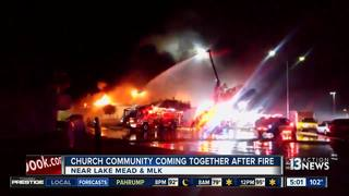 Church members react to early-morning fire