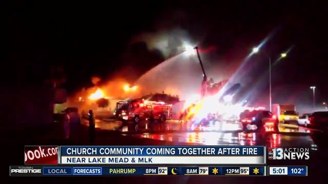 Church destroyed by fire in North Las Vegas