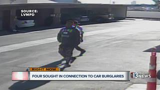 CAUGHT ON CAMERA: Car break-in suspects