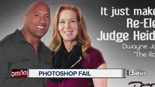 Judge posts photoshopped image with 'The Rock'