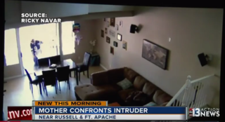 Local mother scares off home intruder