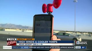 Cool temps for Las Vegas valley on Monday