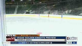 Golden Knights give guests look at hockey rink