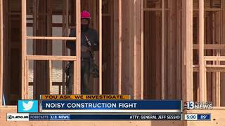 Early-morning construction upsets neighbors