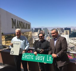 Strip temporarily becomes 'Electric Daisy Lane'