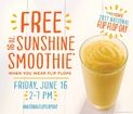 Free smoothies on National Flip Flop Day