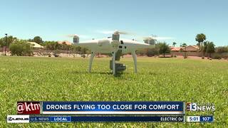 Drones flying too close for comfort