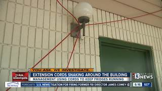 Tenants say management using extension cords