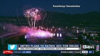 Las Vegas police plan to patrol EDC for drugs