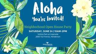 Inspirada hosting Hawaiian party, open house
