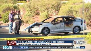 Body found in burned car a possible homicide
