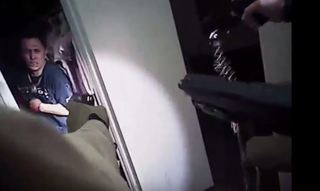 Body-cam footage shows suspect with knife