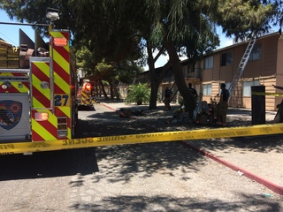 Fire causes $100K in damage at apartment complex