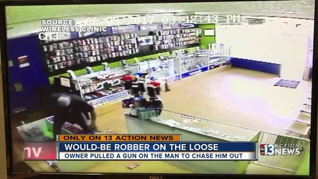 Video captures showdown between clerk and would-be robber