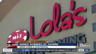 Robbery caught on camera at N. Las Vegas tavern